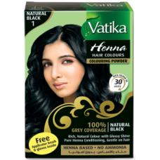 Dabur Vatika Хна для волос №1 Чёрная 6 пак.по 10 гр.