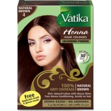 Dabur Vatika Хна для волос №4 Коричневая 6 пак.по 10 гр.