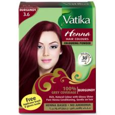 Dabur Vatika Хна для волос №3.6 Бургунд 6 пак.по 10 гр.